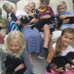 puppy socialization with kids!