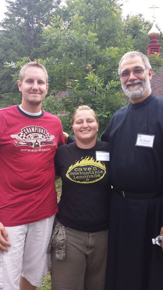 Alan & Bethany Tracy with Brother David of the Monks of New Skete